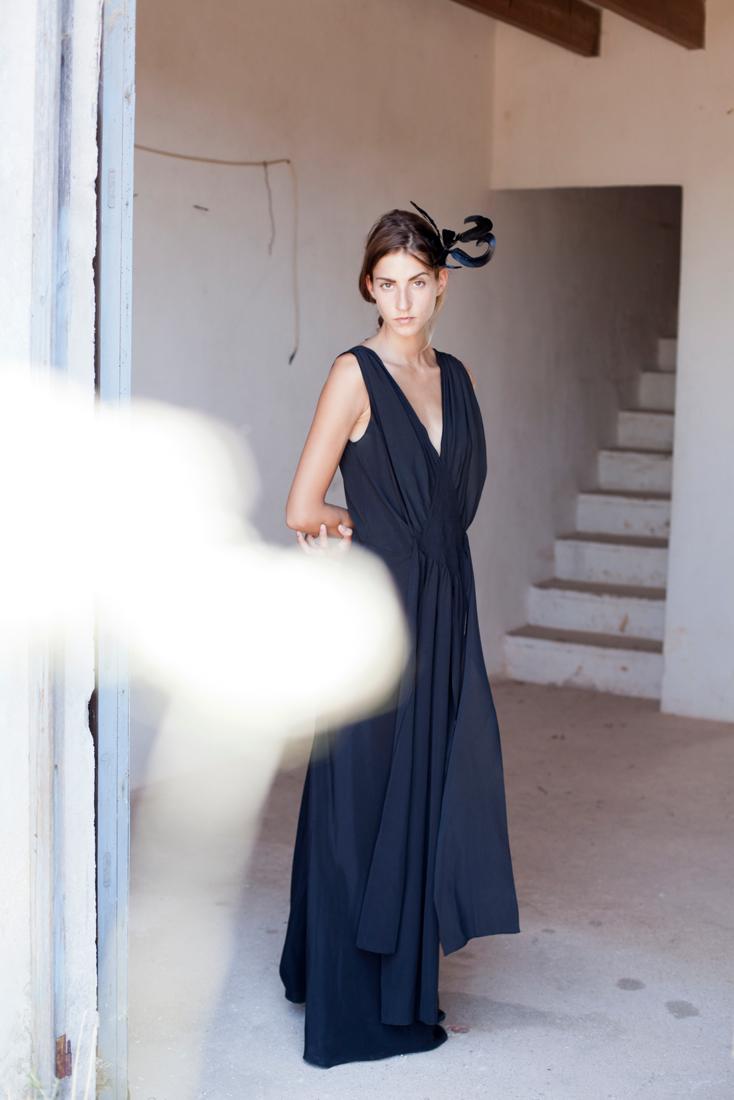 Olympia Black Dress