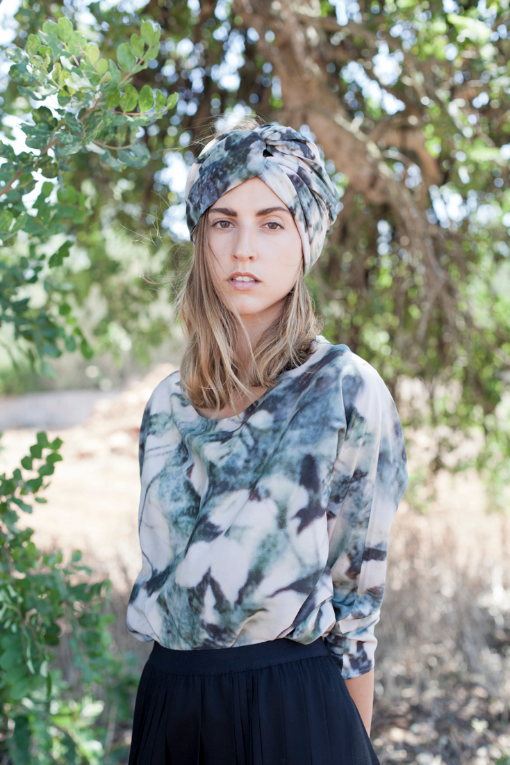 Leaves Print Turban