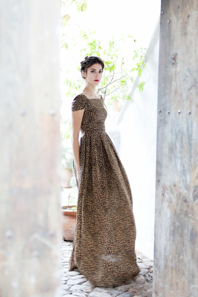 Victoria Leopard Print Dress