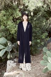 Kimono Blue Cashmere Coat