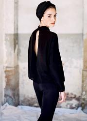 Silk Black Turban