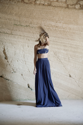 Fabiola Blue Long Skirt