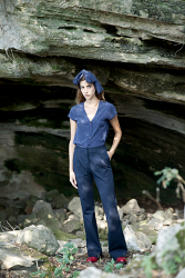 Amal Blue Cotton Trouser