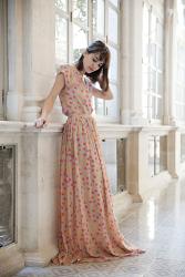 Fabiola Valentina Print Long Skirt