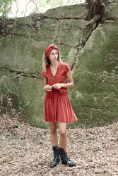 Fiona Red Short Skirt
